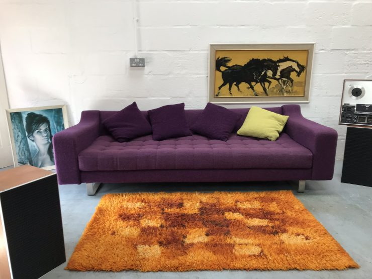 Retro Styled Naughtone 'Portion' 3 Seater Sofa