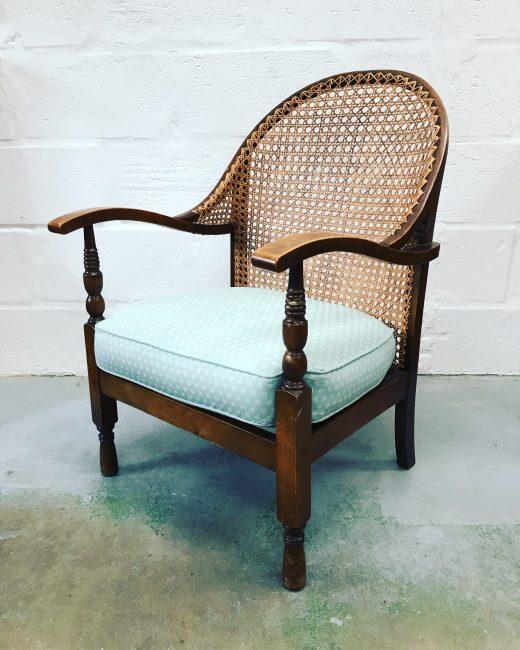 Stunning Art Deco 1930s Oak Bergere Armchair