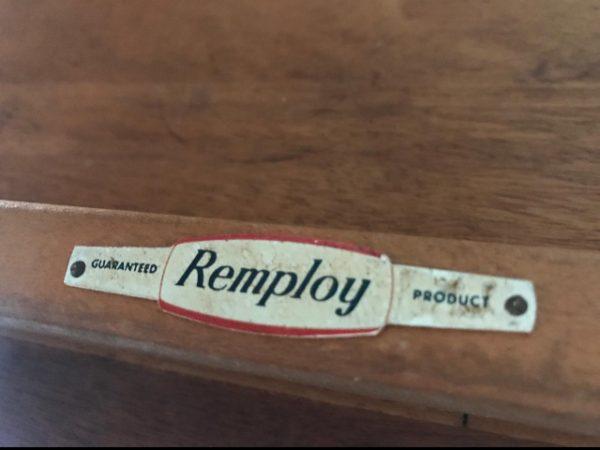 Vintage Mid Century Two-tier Teak Veneered Drinks / Tea Table by REMPLOY