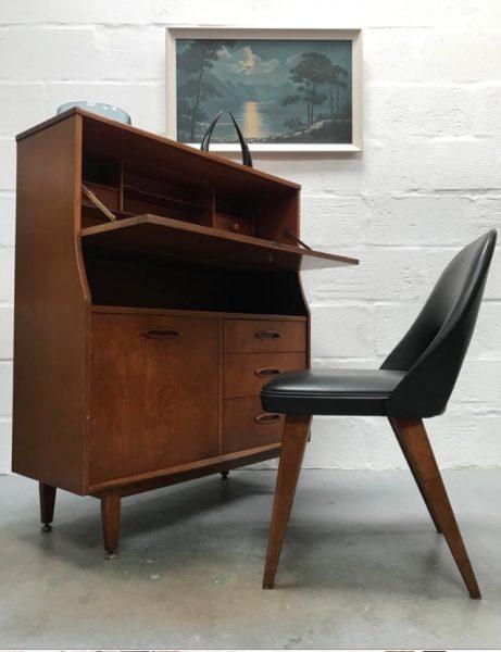 Vintage Mid Century JENTIQUE Bureau Desk Drawers Retro