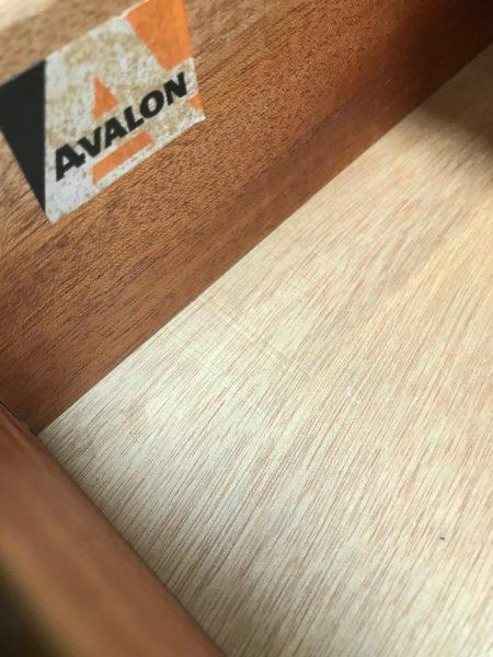 Vintage Mid Century AVALON Teak Chest Of 6 Drawers / TallBoy