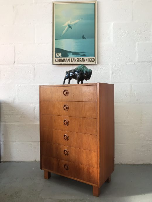 Vintage 1960s Swedish Mid Century Chest of Drawers