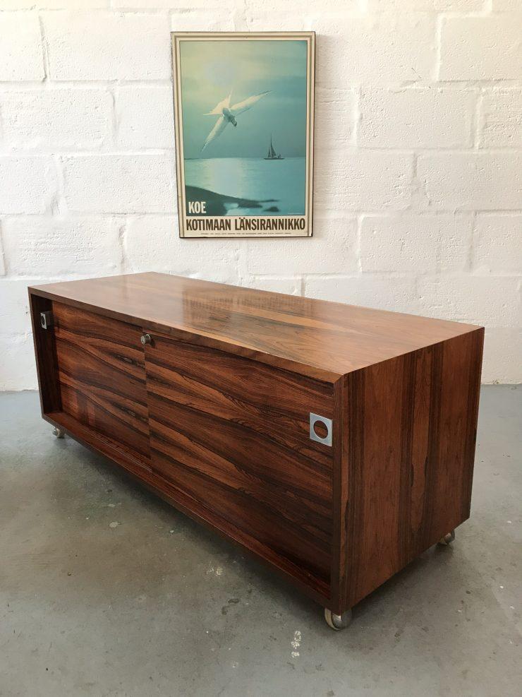 Vintage MDA Rosewood Low Sideboard / Media Cabinet 1970s