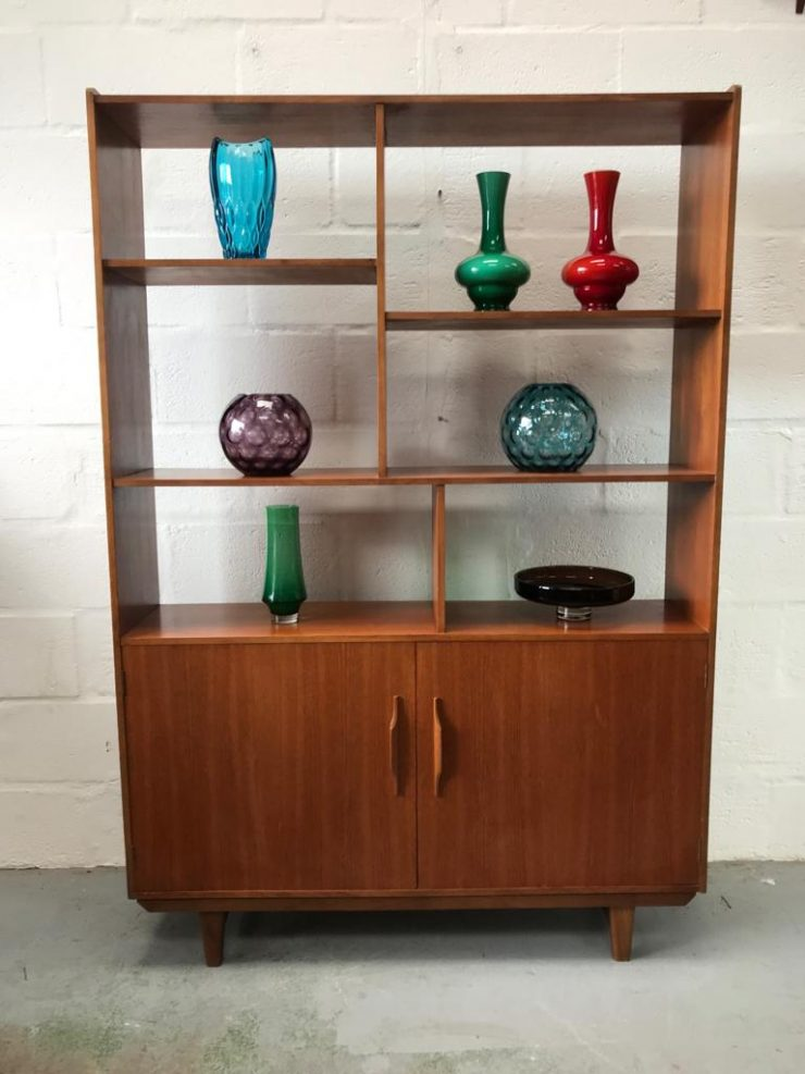 Vintage Retro 1970s Teak Wall Unit Room Divider Sideboard