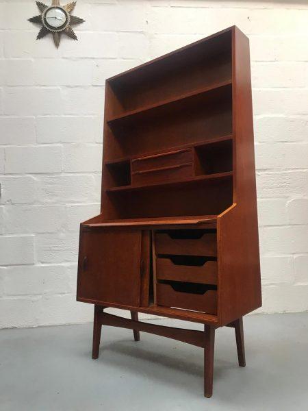 Mid Century Vintage Teak Wall Unit / Bookcase / Highboard