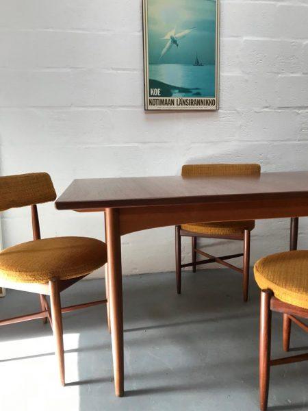 Vintage Late 1960s / 1970s G PLAN Teak Draw-leaf Extending Dining Table