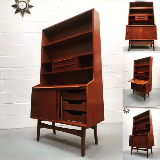Mid Century Vintage Teak Wall Unit / Bookcase / Highboard