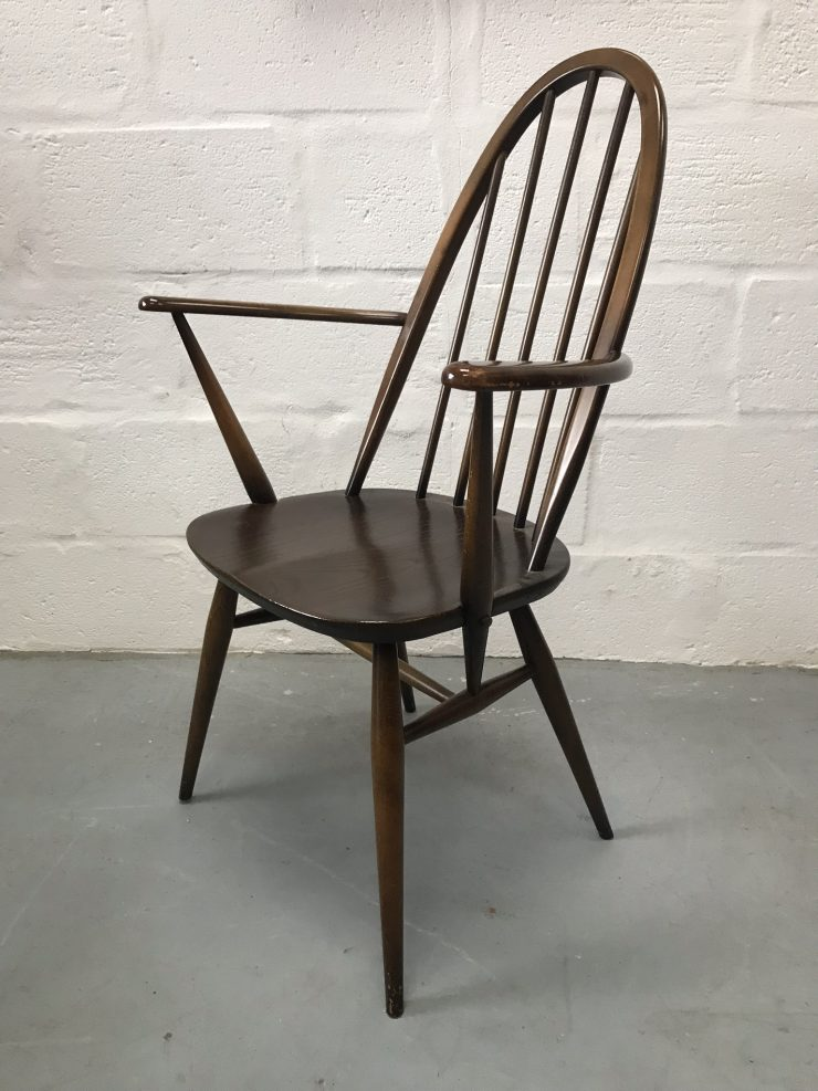 Single Ercol Vintage Windsor Quaker Back Carver Dining Chair 365a