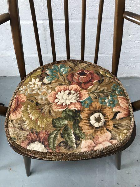 Single Ercol Vintage Windsor Quaker Back Carver Dining Chair 365a