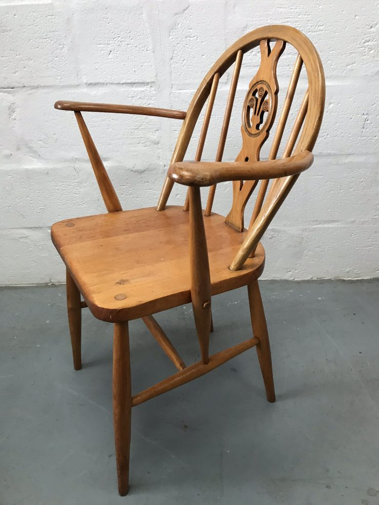 Single Vintage ERCOL Windsor Armchair Carver / Kitchen / Dining Chair