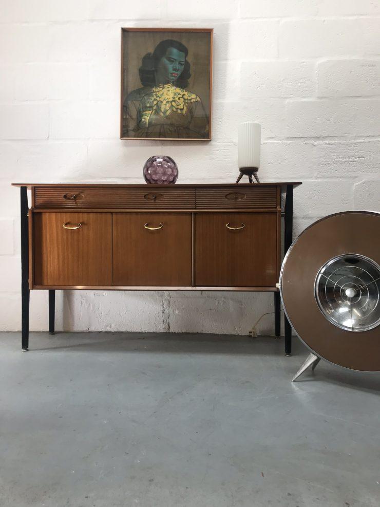 Vintage NATHAN 1950s Teak Sideboard / Drinks Cabinet