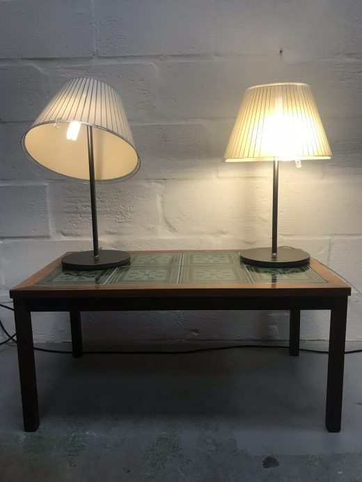 Pair of Italian ARTEMIDE Table Diffuser Parchment - Table Lamps USED