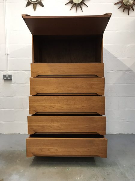 Mid Century 1960s Alfred Cox Bank of 6 Drawers