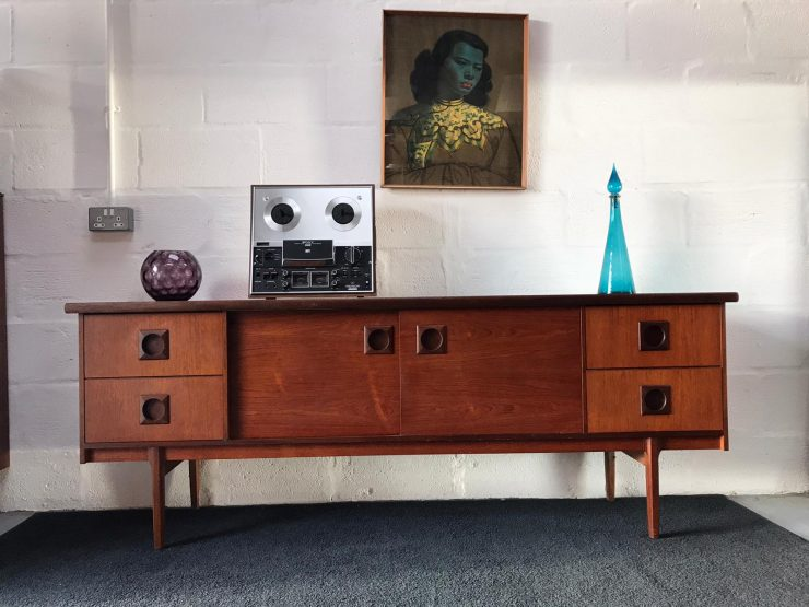 Mid Century Bath Cabinet Makers (BCM) Teak Sideboard Retro