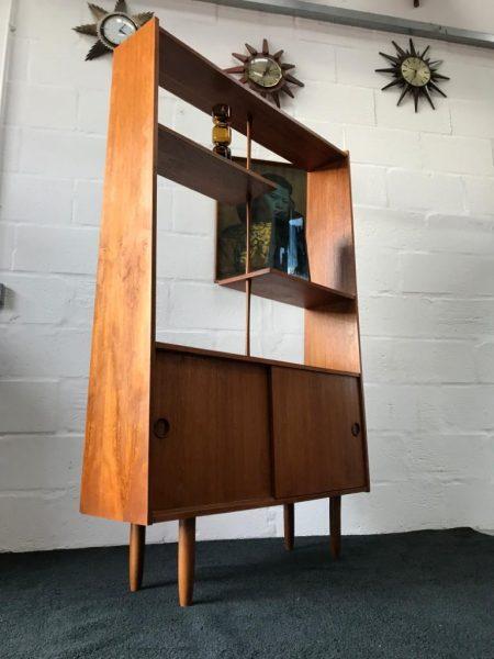 Mid Century Vintage Danish Teak Room Divider / Wall Unit