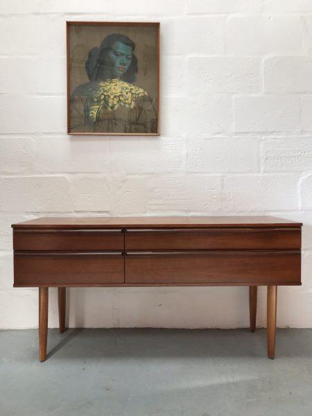 Vintage 1960s Avalon 4 Drawer Sideboard / Dressing Table