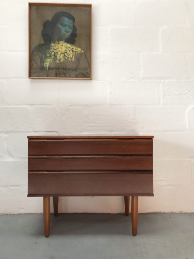 Vintage 1960s Avalon 3 Drawer Chest of Drawers
