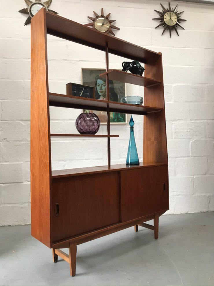 Vintage Mid Century Danish Teak Room Divider / Wall Unit