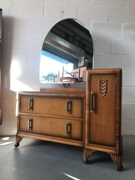 Vintage Mid Century CWS Ltd Oak Dressing Table Art Deco Style
