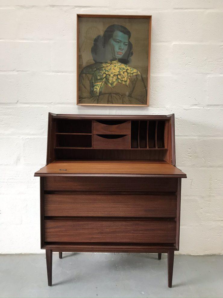 Mid Century Vintage Richard Hornby Writing Desk / Bureau 1960s