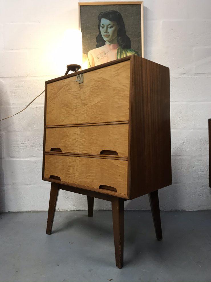 Vintage Mid Century 1960s / 1970s Vanson Bureau / Storage / Desk / Workstation