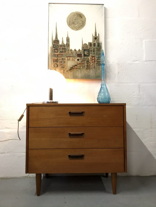 Small Vintage Retro SCHREIBER Chest of 3 Drawers
