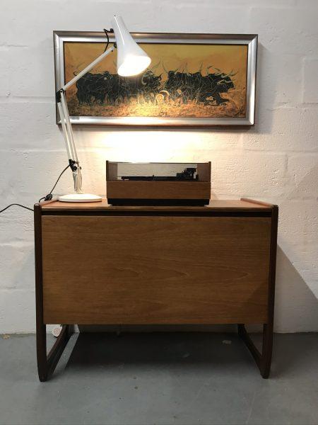 1970s Retro Teak Record Cabinet Vinyl Storage Cupboard G Plan Style Quadrille Legs