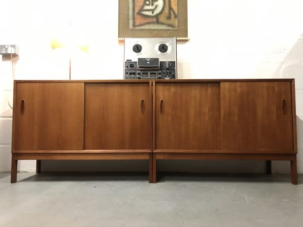 Pair of Nils Jonsson for Troeds Mid Century Record Cabinets