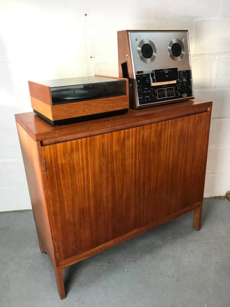 Vintage Danish Mid Century Record Storage / Drinks Cabinet Scandi Style