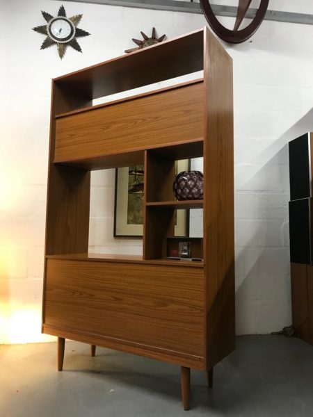 Retro SCHREIBER Wall Unit Bookcase Room Divider Vintage
