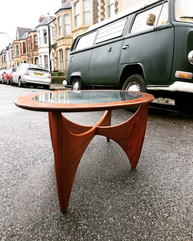 Mid Century Glass Oval 'Astro' Coffee Table for G Plan