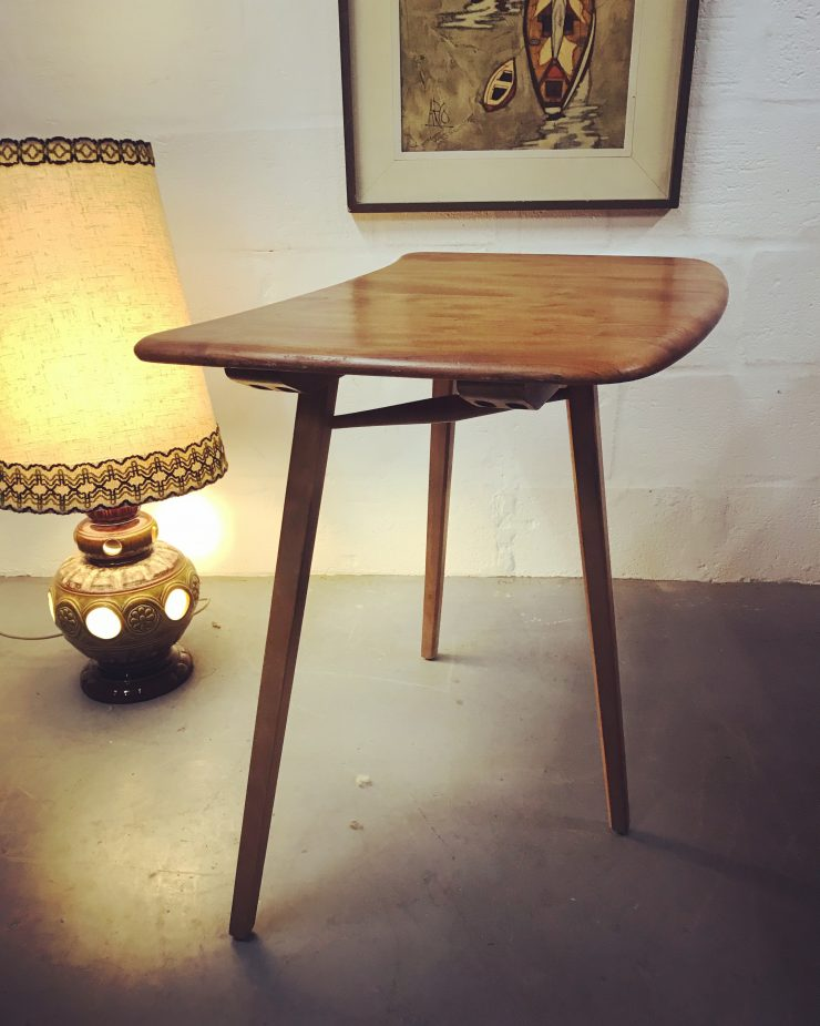 Vintage ERCOL Plank Extension Table / Writing Desk / Occasional Table