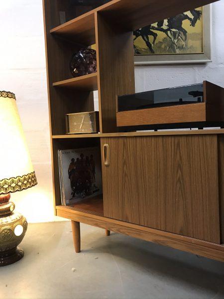 1970s Retro SCHREIBER Wall Unit Bookcase Room Divider Vintage