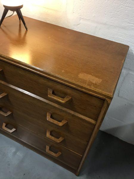 Mid Century G PLAN BRANDON 4 Drawer Chest of Drawers Light Oak