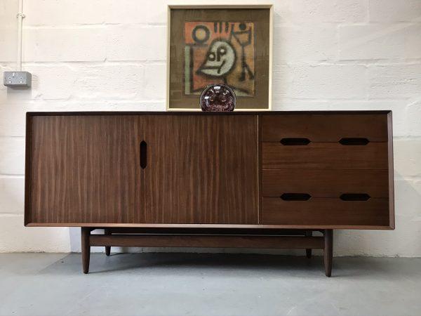 Rare Mid Century Vintage Teak Sideboard 1960s by SCANDART