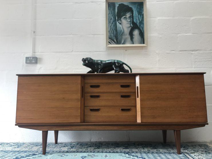 Mid Century Vintage Alfred Cox 'Harrow' Walnut Sideboard