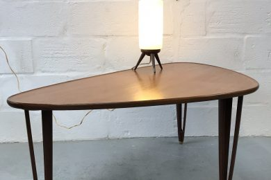 Mid Century Danish Teak Tripod Coffe / Side Table by BC Møbler 1950s