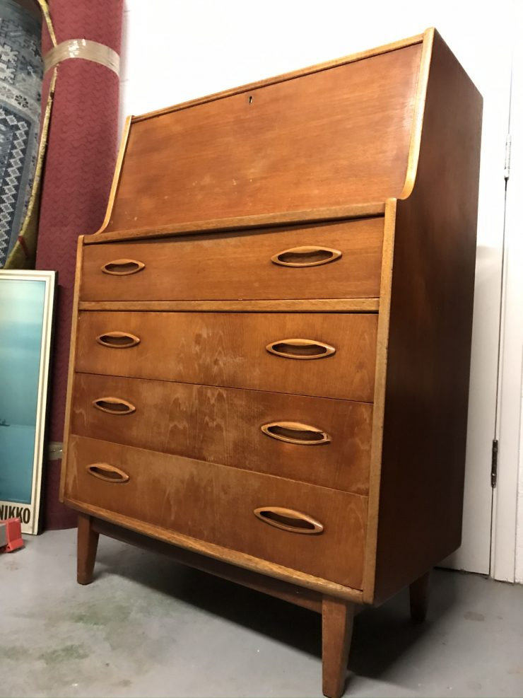 1960s Mid Century JENTIQUE Bureau Desk Drawers
