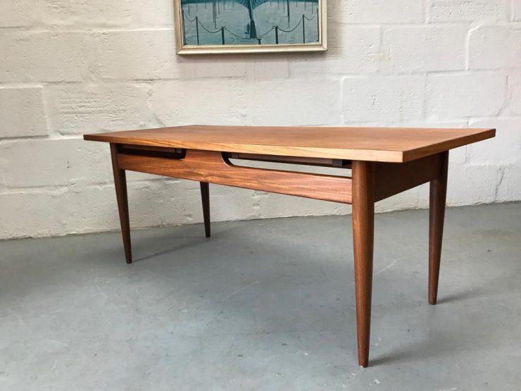 "Vintage Mid Century ""Crannac' Teak Coffee Table by Arthur Edwards"