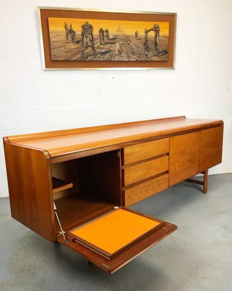 Mid Century White & Newton Teak Sideboard Vintage