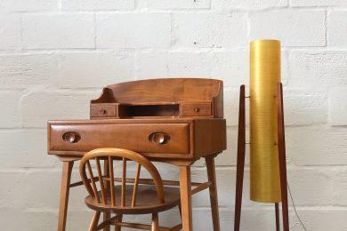 Original Mid Century ERCOL Windsor Writing Table / Desk & Chair
