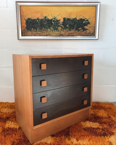 Vintage Danish Teak Chest of Drawers by Domino Mobler