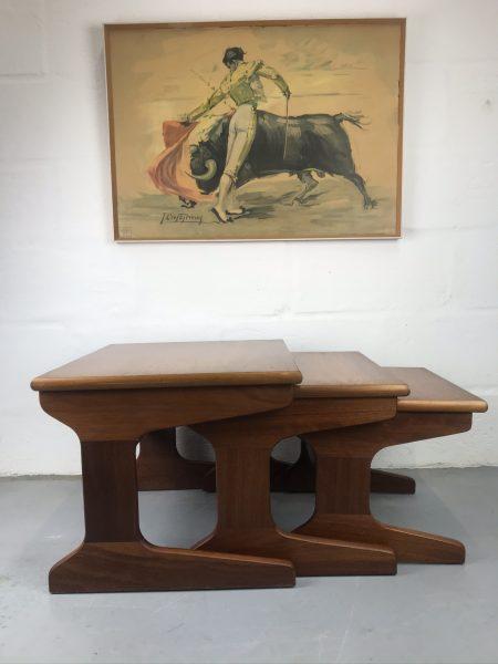 Portwood 1979s Retro Vintage Teak Nesting Tables