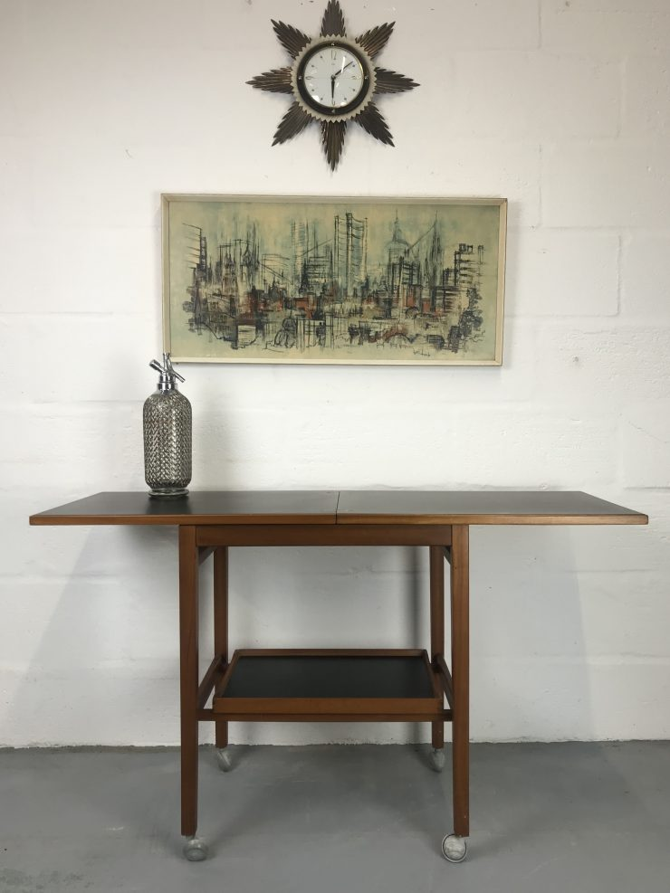 Mid Century 1950s / 1960s Two TierVintage Cocktail Trolley Bar by Nathan
