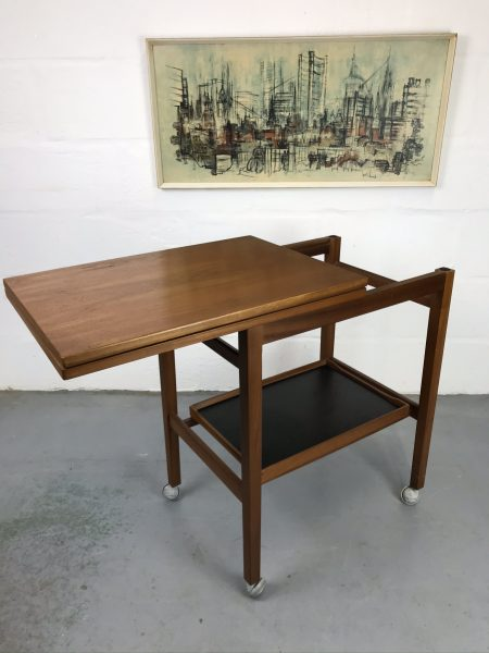 Mid Century 1950s / 1960s Two Tier Vintage Cocktail Trolley Bar by Nathan