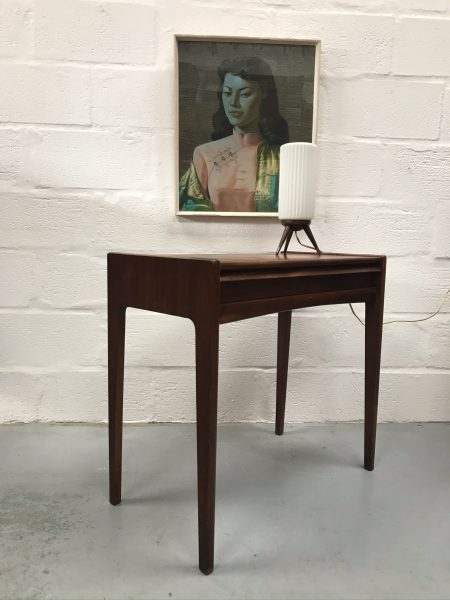 Vintage Retro Teak Mid Century Desk / Console Table John Herbert for A.Younger