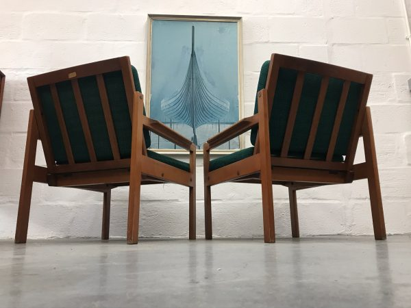 Pair of Mid Century Lounge Chairs by Centa