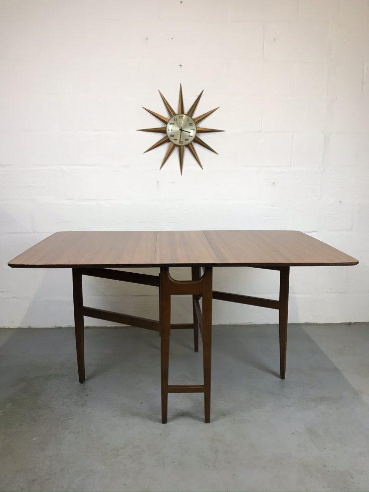 Mid Century Teak Gate Leg Dining Table Vintage