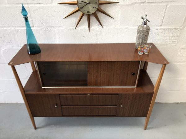 Retro Vintage Mid Century Beautility Drinks / Cocktail Cabinet 1950s