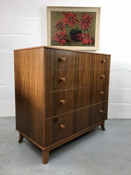 MCM Vintage Walnut Chest of Drawers by Gordon  Russell for Heals